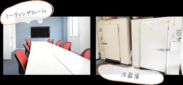 施設写真 ミーティングルーム、冷蔵庫